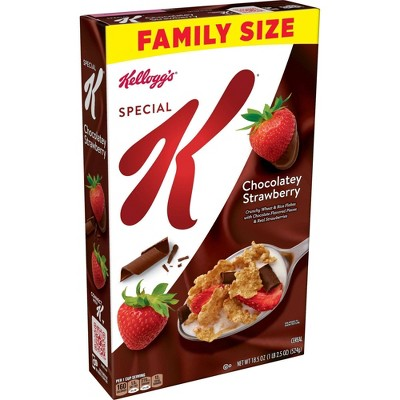 Special K Chocolate Strawberry Family Size Cereal - 18.5oz - Kellogg's
