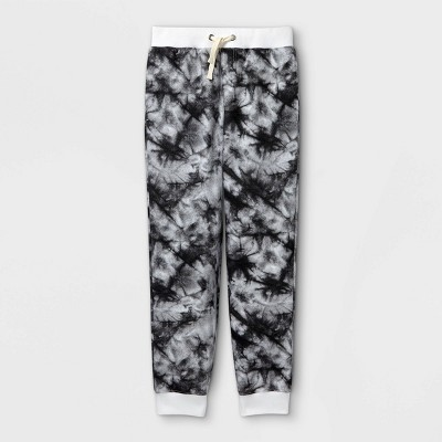 Boys' Tie-Dye Cozy Knit Jogger Pants - Cat & Jack™ Gray