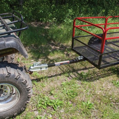 Yutrax Trail Warrior X2 1250 Pound Capacity Off Road Utility ATV Trailer & Hitch