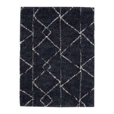 "7'10""x10' Geometric Design Woven Area Rug Navy - Project 62™"