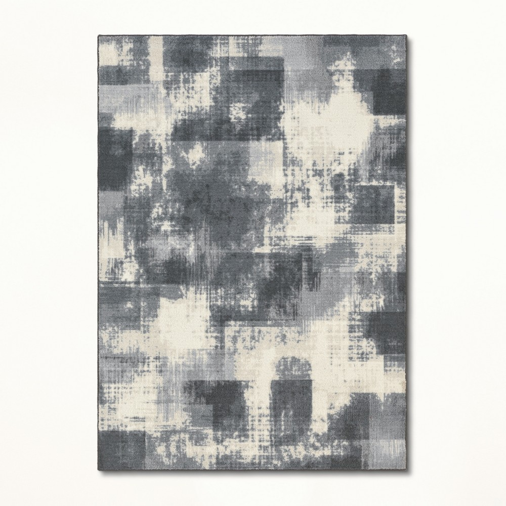 5'X7' Tufted Splatter Area Rug Gray - Project 62