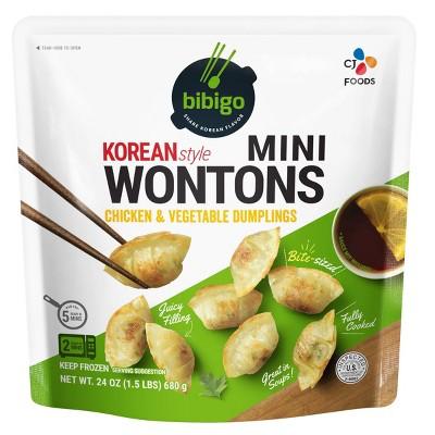 Bibigo Frozen Mini Wontons Chicken & Vegetable - 24oz