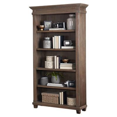 """76"""" Carson Open Bookcase Brown - Martin Furniture"""