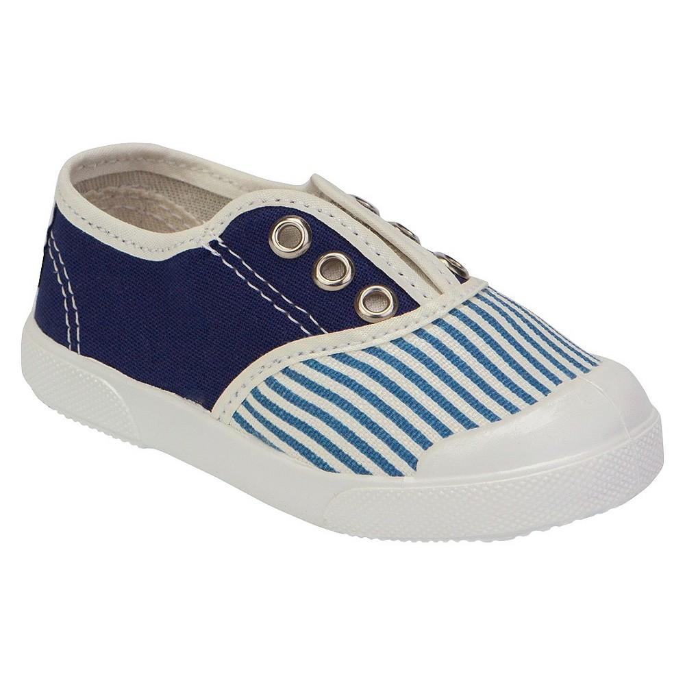 Toddler's United Shoes of America Skipper Sneakers - Navy (Blue) 4, Toddler Unisex