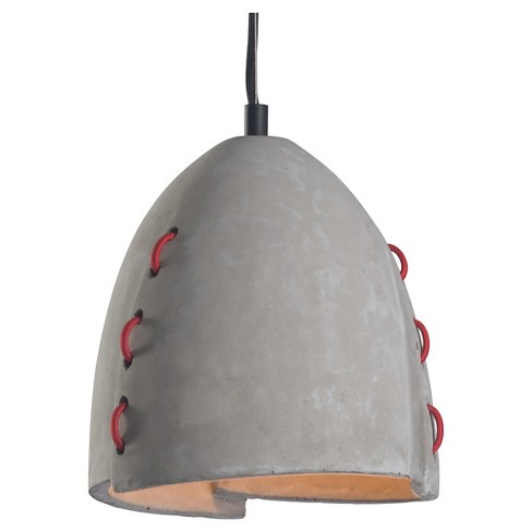 "Faux Concrete Red and Gray Industrial 10"" Ceiling Lamp - ZM Home - image 1 of 2"
