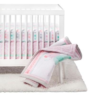 Crib Bedding Set Elephant Parade 4pc   Cloud Island™   Pink   Image 1 Of