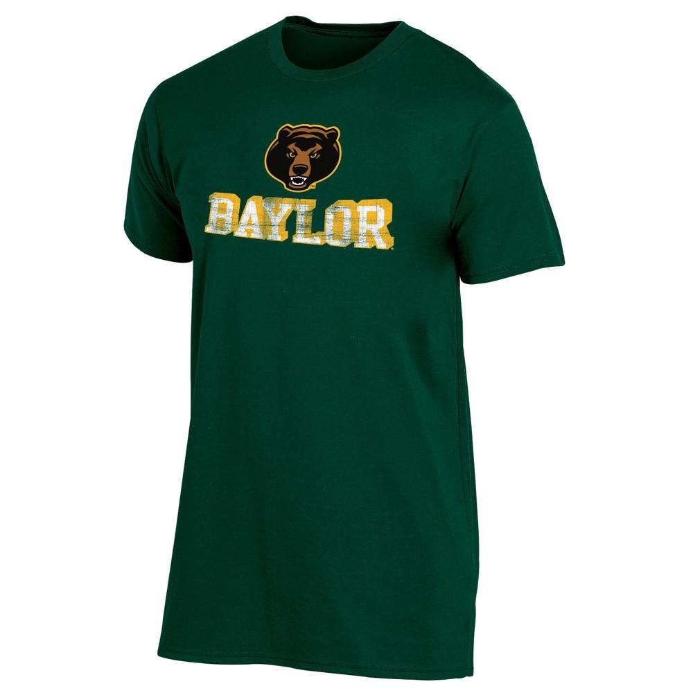 Baylor Bears Men's Short Sleeve Keep the Lights On Bi-Blend Gray Heathered T-Shirt L, Multicolored
