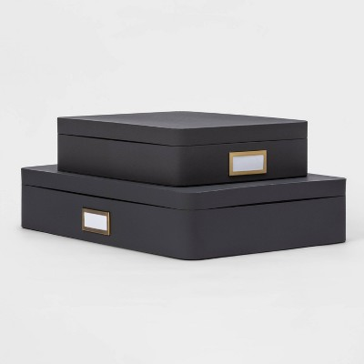 2pk Paperboard Storage Boxes Gray - Project 62™