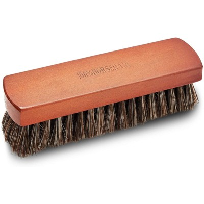 Okuna Outpost Horsehair Brown Brush for Shoe (7 x 1.9 x 1.75 Inches)