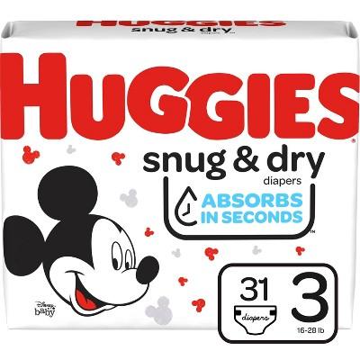 Huggies Snug & Dry Diapers - Size 3 - 31ct