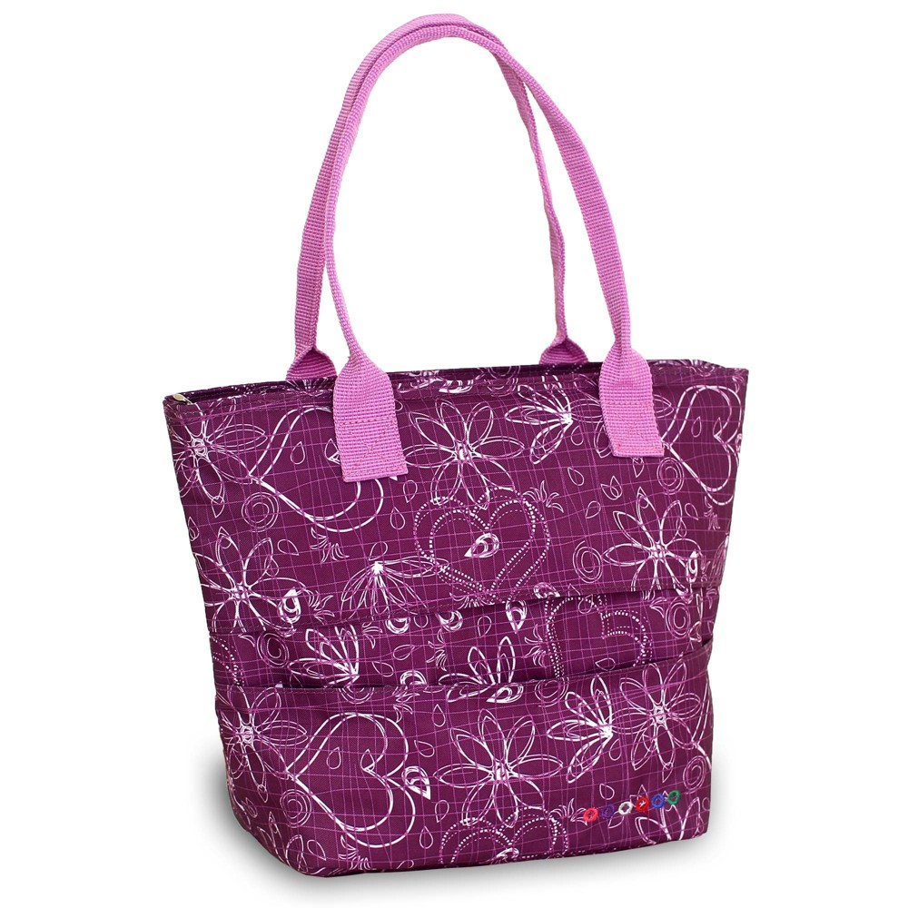 J World Lola Lunch Tote With Back Pocket Love Purple