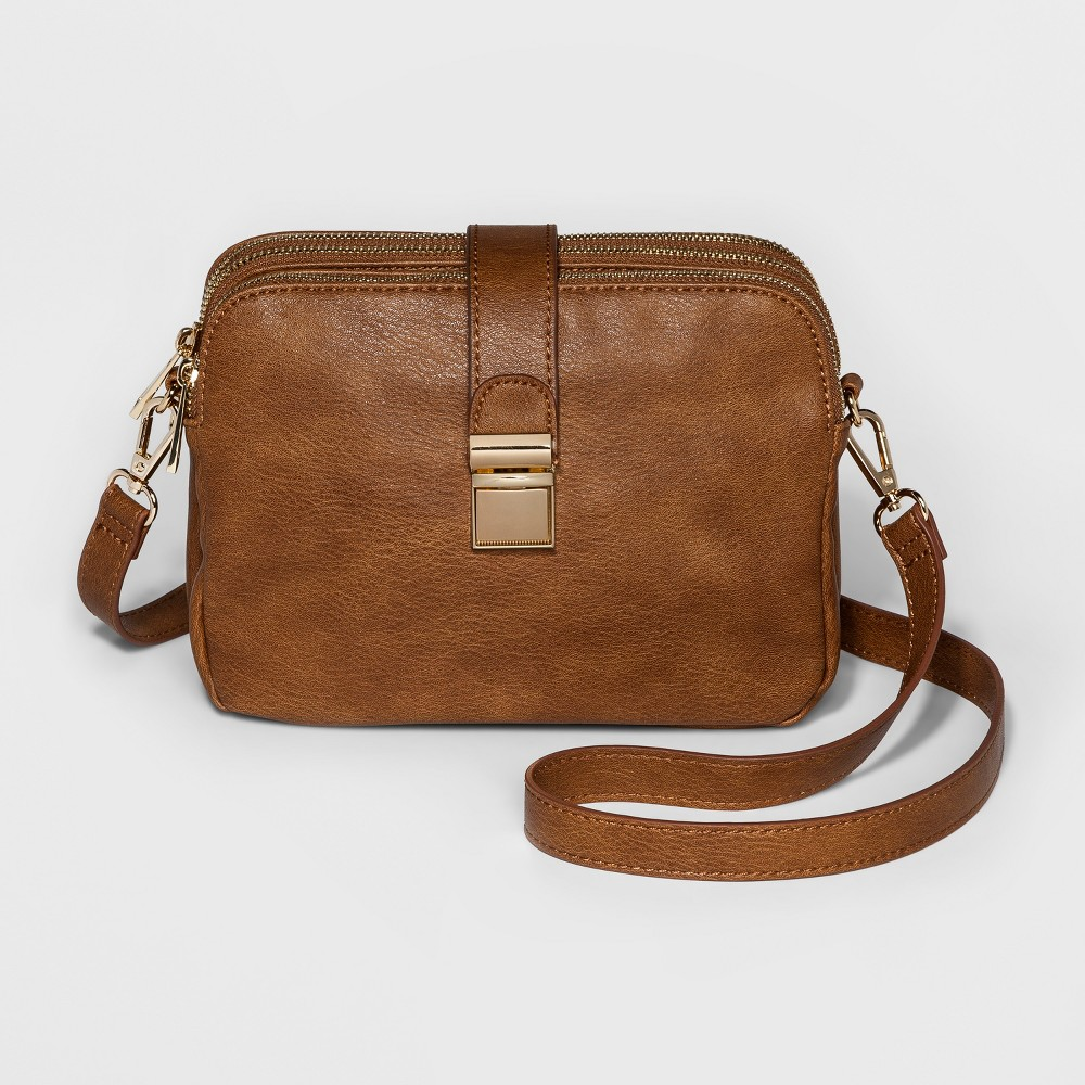Image of Cesca Triple Play Crossbody Bag - Brown, Women's