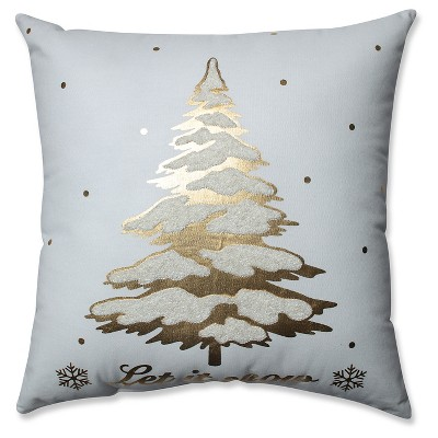 Tree Square Throw Pillow Gold - Pillow Perfect