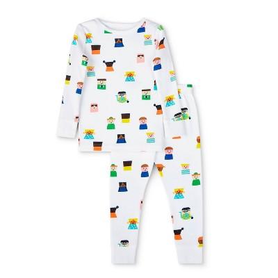 Toddler Kids-Print  Top & Bottom Set - Christian Robinson x Target White