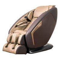 Titan Pro Ace II 3D Massage Chair with 3 Stage Zero Gravity, L-Track, Upgraded Foot Rollers, Heat, Bluetooth Speakers, Full Body Air Compression Massage (Brown)
