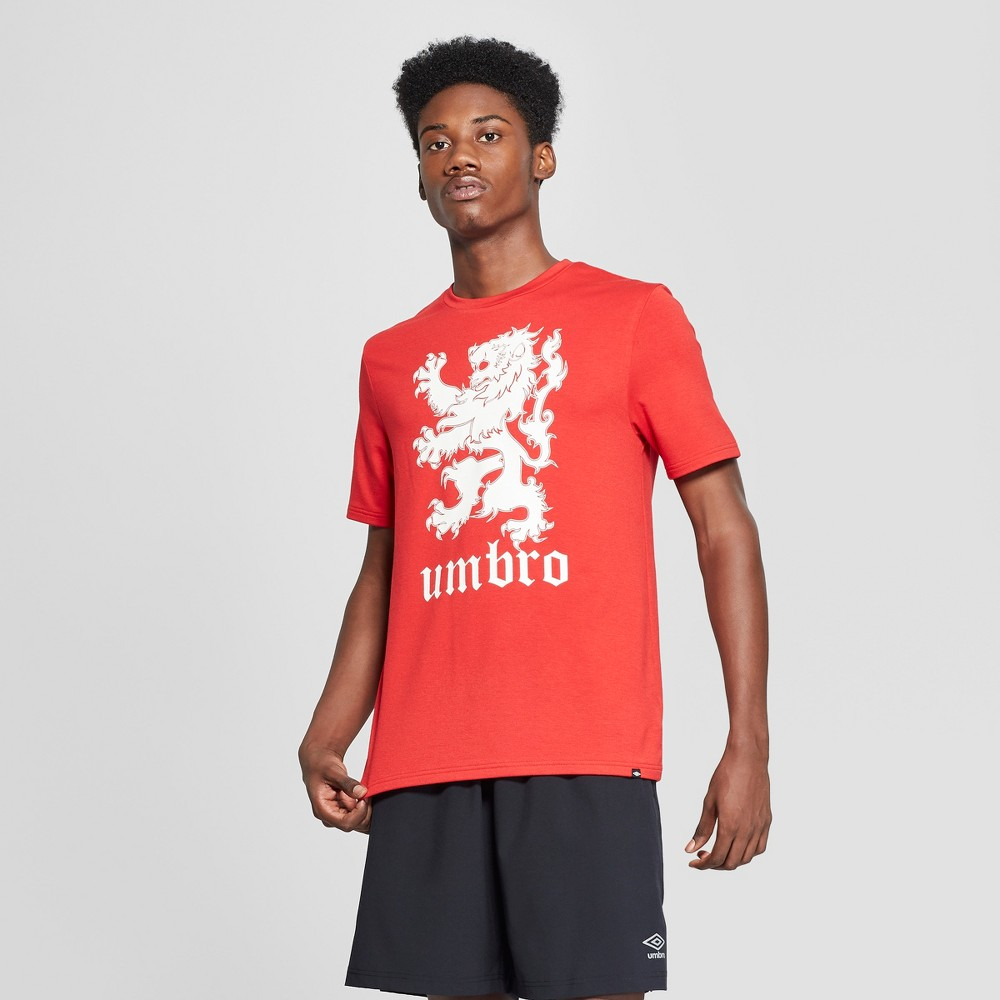 Umbro Men's Active Graphic T-Shirt - Red M