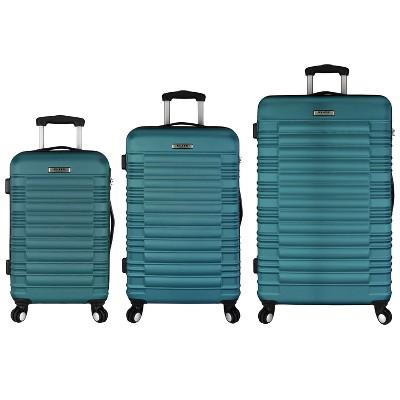 Elite 3pc Hardside Spinner Luggage Set - Teal