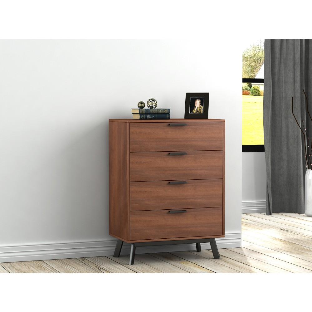 Image of Aspen 4 Drawer Dresser Vintage Umber Brown - Loft 607