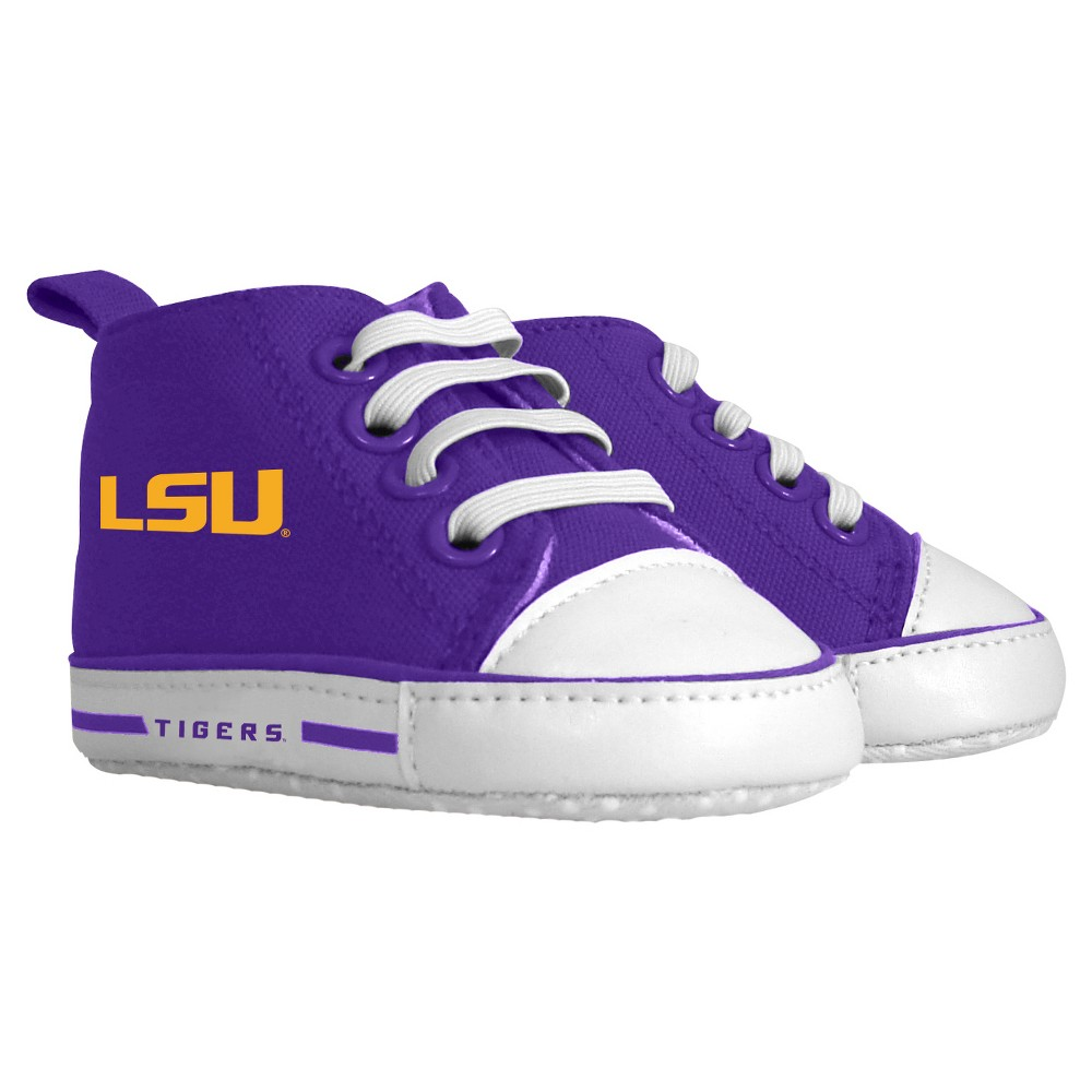 Imn Shoes Child Crib Shoes NCAA LSU Tigers 0-6 M, Kids Unisex, Size: Medium, Purple/Gold