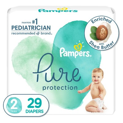 Pampers Pure Protection Diapers Jumbo Pack - Size 2 - 29ct