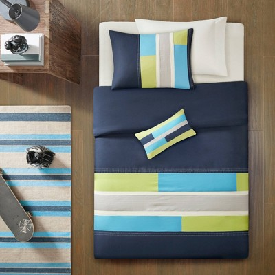 Maverick Twin/Twin Extra Long 3pc Duvet Cover Set Navy