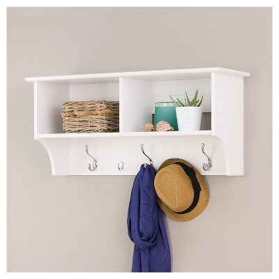 Wide Hanging Entryway Shelf White 36  - Prepac