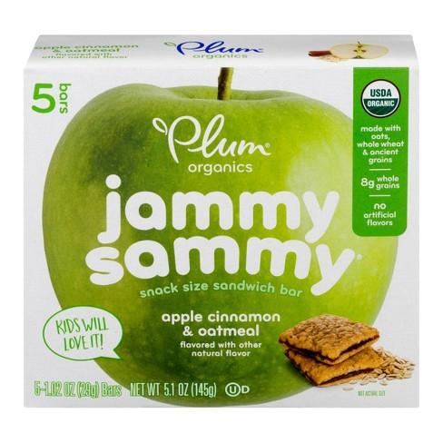 Plum Organics Jammy Sammy Apple Cinnamon & Oatmeal - 5ct/1.02oz Each - image 1 of 4