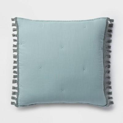 Solid Macrame Tassel Tufted Lofty Pillow Sham - Opalhouse™