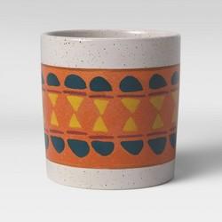 "8"" Stoneware Pattern Planter Terracotta - Project 62™"
