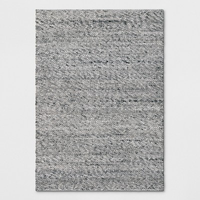 Chunky Knit Wool Woven Rug 5'x7' Gray - Project 62™