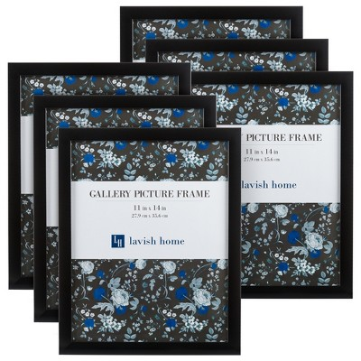 Picture Frame with Stand and Hanging Hooks Black 11 x14  6pk - Lavish Home