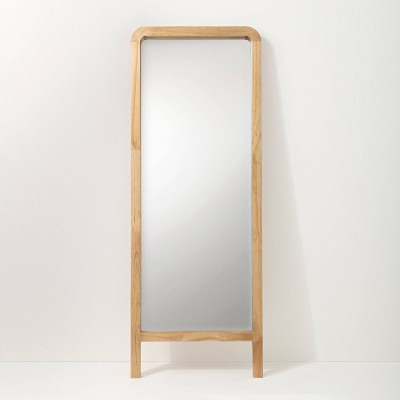 "71"" Standing Wood Framed Mirror Natural - Hearth & Hand™ with Magnolia"