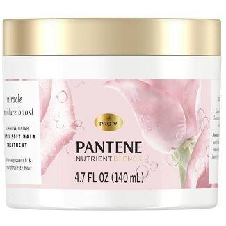Pantene Nutrient Blends Miracle Moisture Boost Rose Water Petal Soft Hair Treatment - 4.7 fl oz
