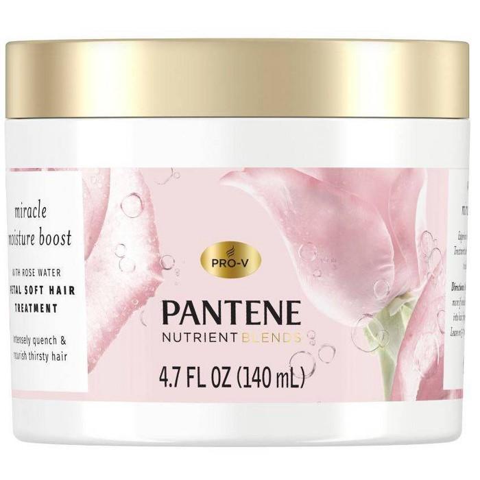 Pantene Nutrient Blends Miracle Moisture Boost Rose Water Petal Soft Hair Treatment - 4.7 Fl Oz : Target