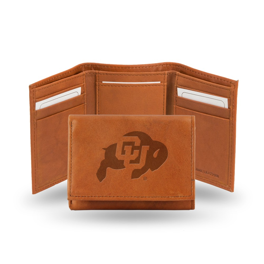 Colorado Buffaloes Rico Industries Embossed Leather Trifold Wallet