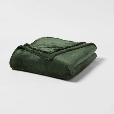 King Microplush Bed Blanket Green - Threshold™