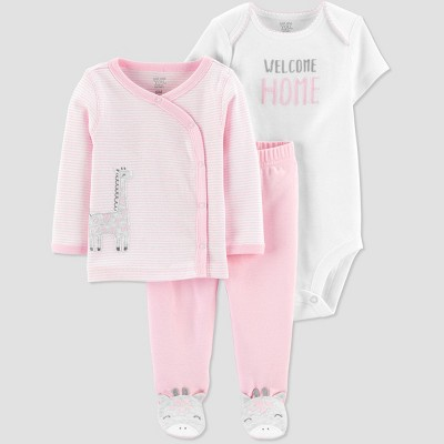 Baby Girls' Cardigan Layette set - Just One You® made by carter's Pink Newborn