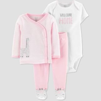 Baby Girls' Cardigan Layette set - Just One You® made by carter's Pink 3M