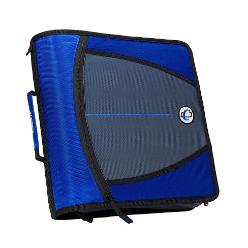 Case-it Mighty Zip Tab O-Ring Binder, Blue, 3 Inches - image 1 of 4