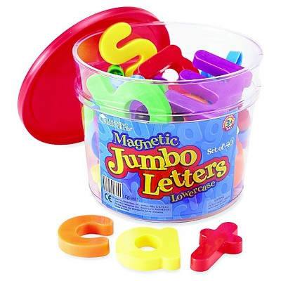 Learning Resources Jumbo Magnetic Lowercase Letters (40 PC)