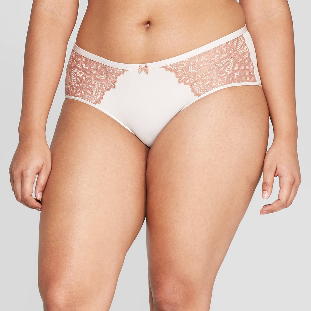 Women's Bonded Micro Hipster with Lace - Auden Soft Petal Pink L