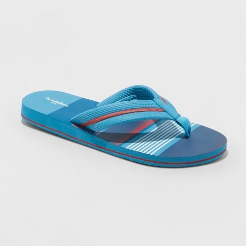 Men's Ronnie Flip Flop Sandals - Goodfellow & Co™ Blue - image 1 of 3
