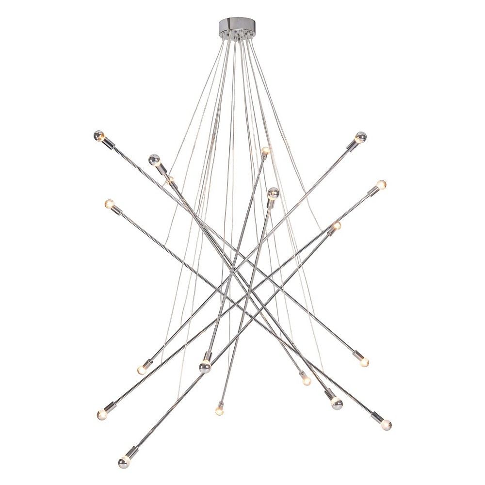 Modern Criss Cross Chrome (Grey) 59 Ceiling Lamp - ZM Home