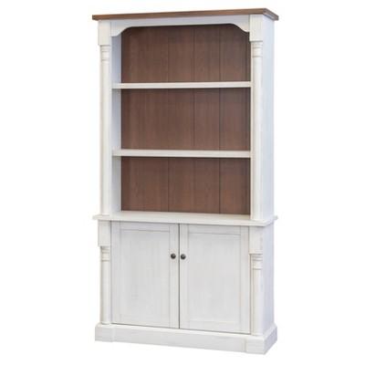 "78"" Durham 3 Shelf Bookcase with Lower Doors White - Martin Furniture"