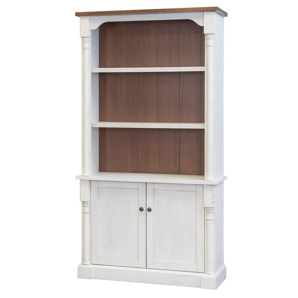 78 34 Durham 3 Shelf Bookcase With Lower Doors White Martin Furniture