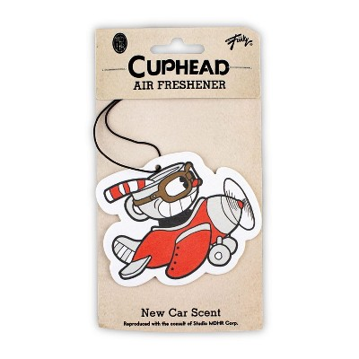 Just Funky Cuphead Airplane Hanging Air Freshener for Cars | New Car Scent