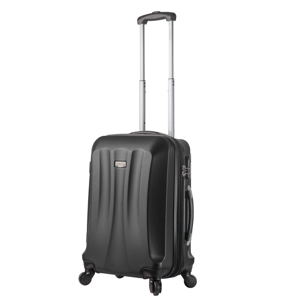 Mia Viaggi Italy Siena 20 Hardside Suitcase - Black