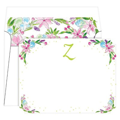 Die-Cut Social Set Floral Crest Monogram - Z
