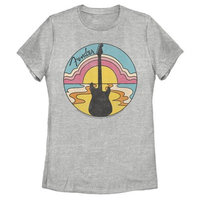Women's Fender 70s Guitar Silhouette T-Shirt