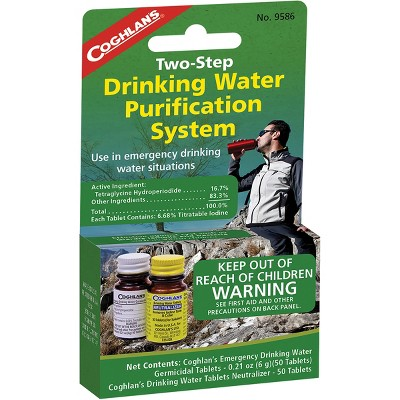 Coghlan's Two-Step Drinking Water Purification System, Camping Emergency Tablets
